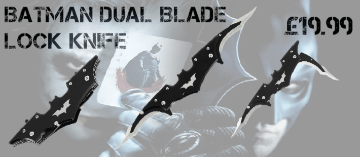 batman banner lock knife