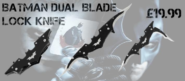 batman banner lock knife