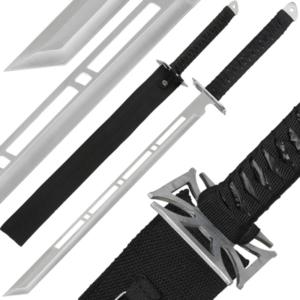 Silver Ninja Sword And Sheath
