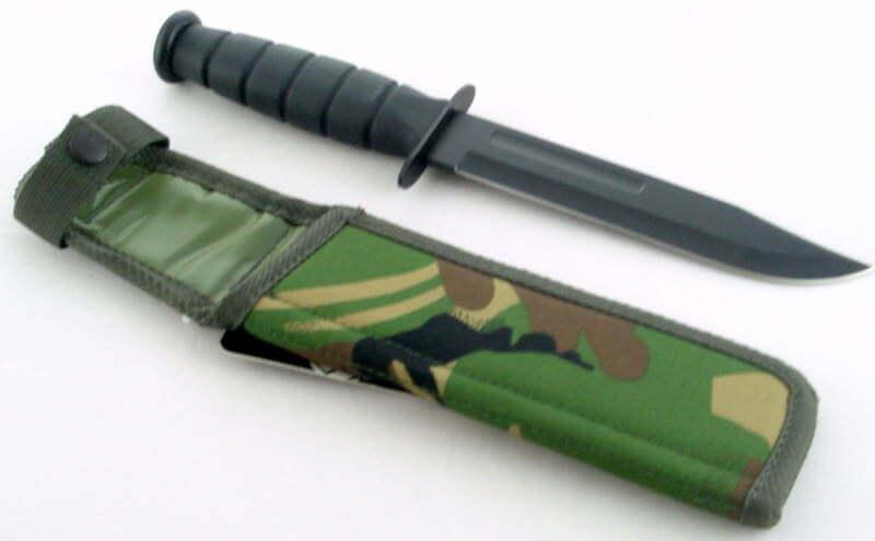 Black Marine Bowie Knife Amp Camo Sheath Knifewarehouse