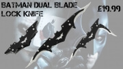 Batman Dual Blade Lock Knife