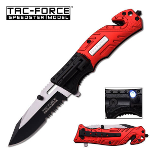 Fire Fighter Complete Tac-Force Spring Assisted Knife, Spring Assisted Knives