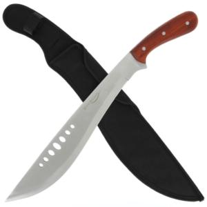 Kukri Machete with Wooden Handle and Sheath 4