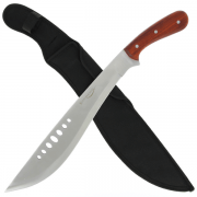 Kukri Machete with Wooden Handle and Sheath
