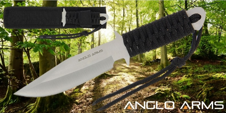 Laced fixed blade knife banner