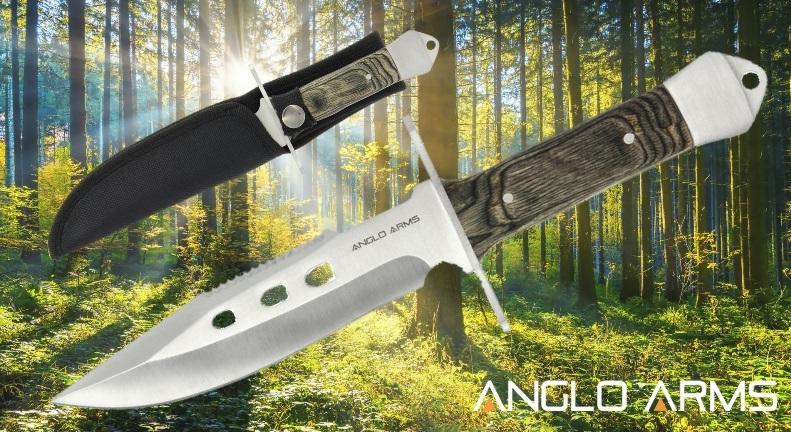 Pakkawood Fixed Blade Anglo Arms Knife