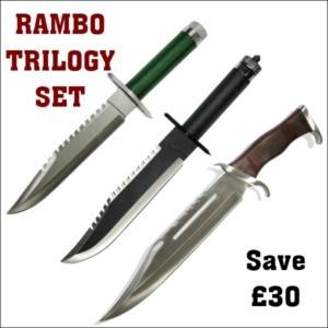 Rambo Trilogy Knife Set