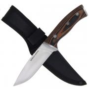 Satin Fixed Blade Knife Micarta Handle
