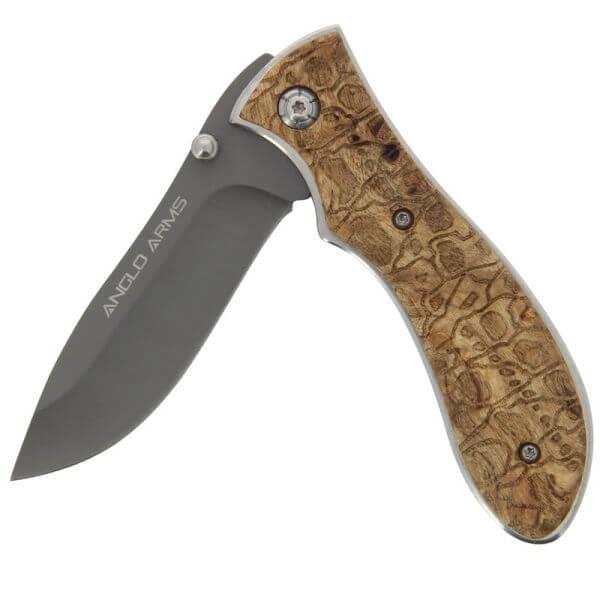 Burlwood Anglo Arms Lock Knife