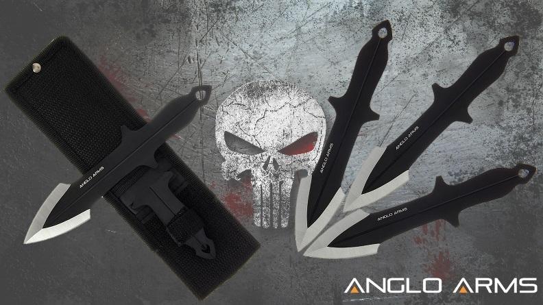Punisher Throwing Knife Set