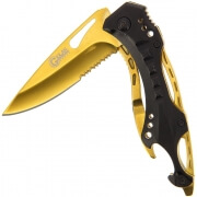 Gold Golan Serpent Spring Assisted Knife