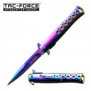 Rainbow Stiletto Spring Assisted Knife