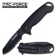 Tac-Force Ribbed Spring Assisted Knife