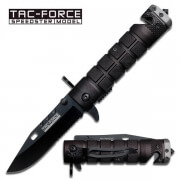 Black Grenade Spring Assisted Knife, Spring Assisted Knives
