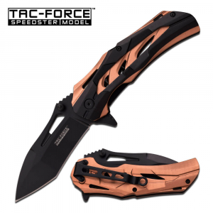 Tan & Black Spring Assisted Knife