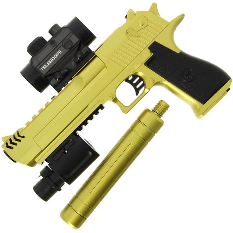 Automatic Goldfinger Gel Soft Gun Knifewarehouse