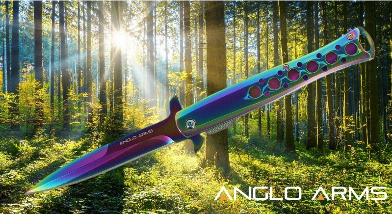 Rainbow Lock Knife Anglo Arms