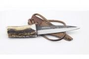 Genuine Stag Antler Sgian Dubh Straight Knife