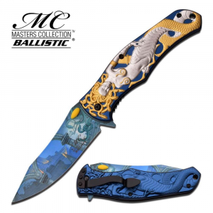 SKU MC-A028SG Master Collection Colour Mermaid Folding Knife