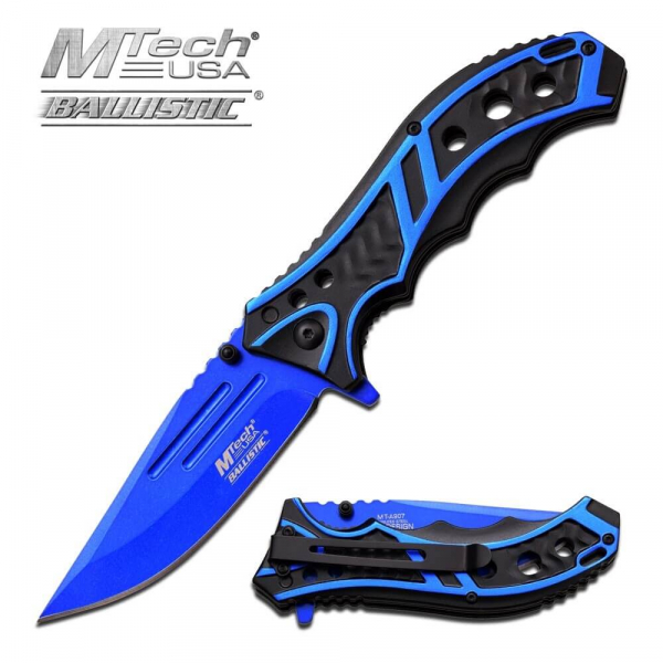 Blue Spring Assisted Knife