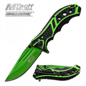 MTech Bright Green Spring Assisted Utility Knife