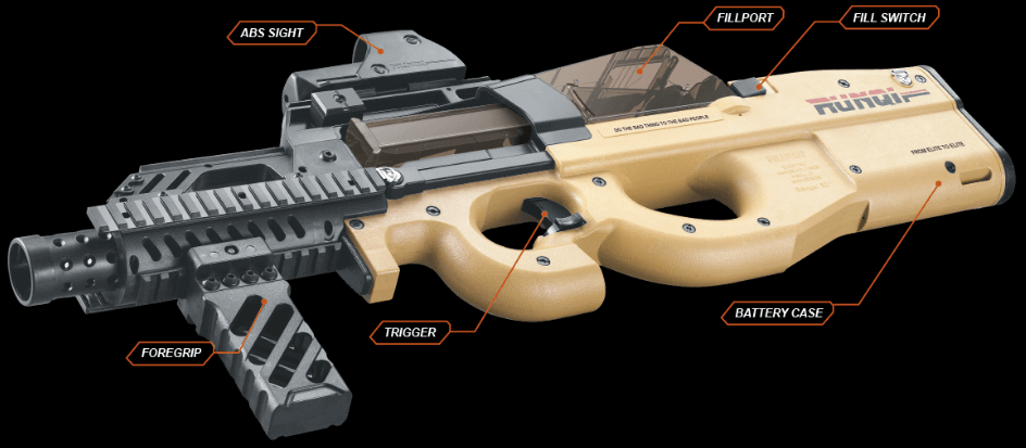 P90X Gelsoft Machine Gun