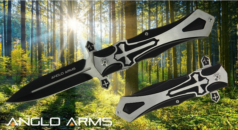 Gothic Crusader Lock Knife By Anglo Arms