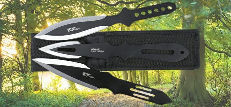 Triple Throwing Knife Set