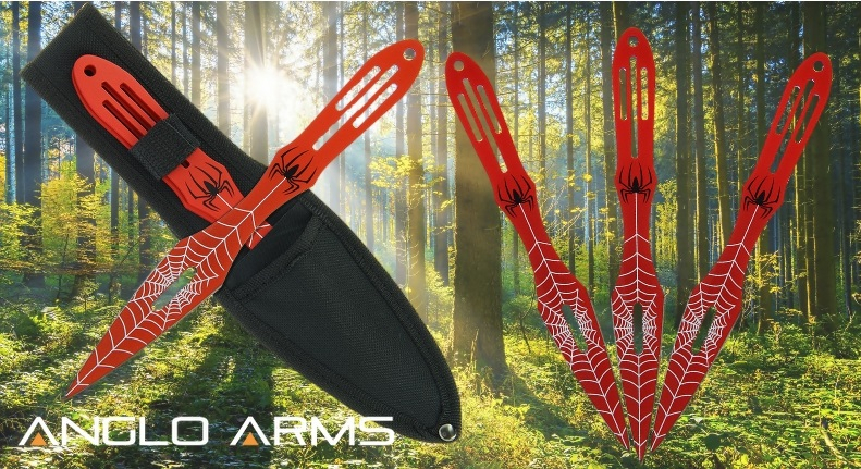 Red Spider Throwing Knife Set