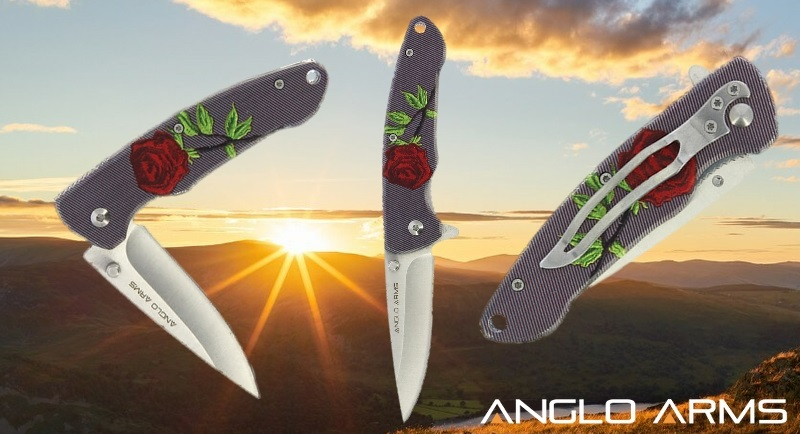 Rose Themed Anglo Arms Lock Knife