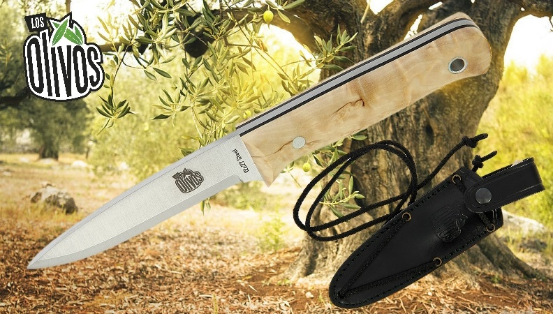 Los Olivos Curly Birch Sheath Knife