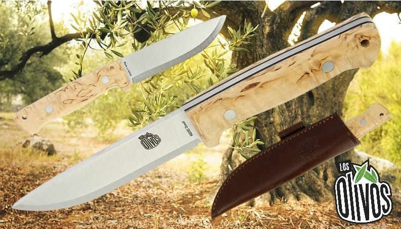 Los Olivos Ibex Curly Birch Knife