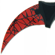 Karambit Fixed Blade 'Spider' Knife and Plastic Case (711)