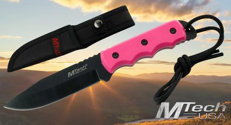 MTech USA Pink Fixed Blade Knife