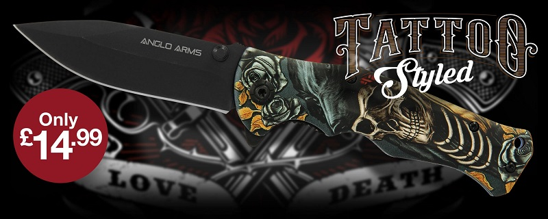 Tattoo Themed Lock Knife From Anglo Arms