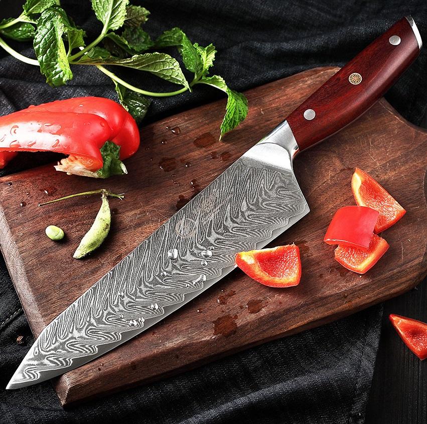 5pc japanese damascus steel kitchen knife set - knifewarehouse