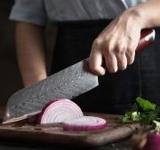 5pc Japanese Damascus Steel Kitchen Knife Set