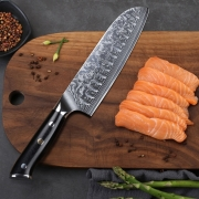 Japanese Damascus Steel Santoku Knife