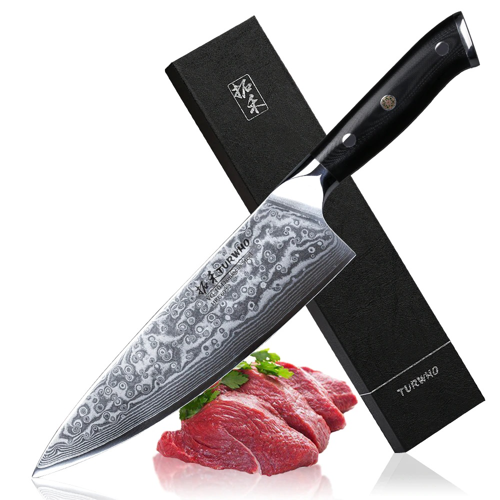 japanese damascus steel gyutou chef knife - knifewarehouse