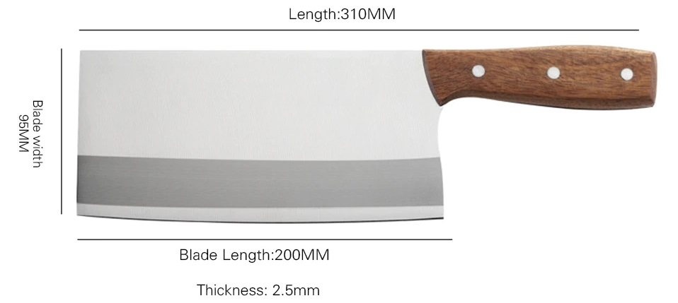 Turwho Meat Cleaver Butcher Knife