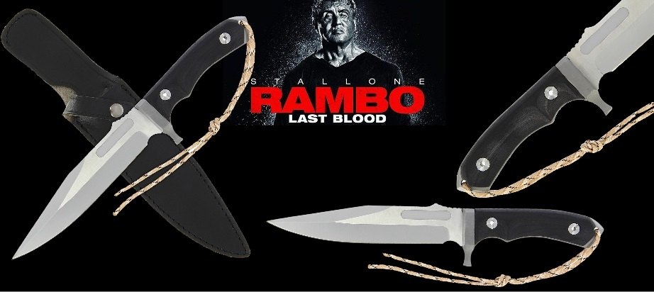 Rambo Black Bowie MK-8 Knife Banner