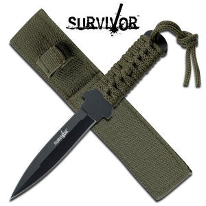 "SURVIVOR HK-7521 OUTDOOR FIXED BLADE KNIFE 7"" OVERALL"