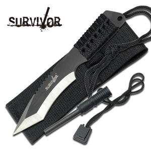 Survival Knife with Fire Starter