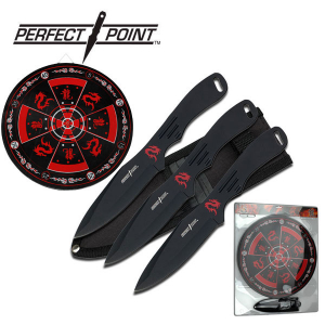 """Perfect Point Throwing Knife Set 8"""" Overall"""