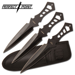 """Perfect Point Throwing Knife Set 7.5"""" Overall"""