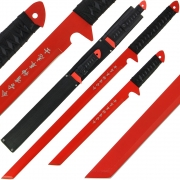 Golan Twin Red Ninja Sword Set