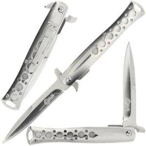 """Golan 9.2"""" Chrome Stiletto Lock Knife"""