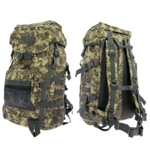 Golan™ 55L 800D Tactical Rucksack / Stuff-Sack - Woodland Digicam