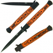 Golan Monster Stiletto Folding Knife - Pakkawood Handle
